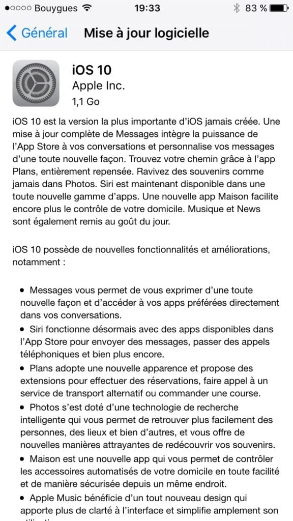 installation propre ios 10 iphone 6s 7