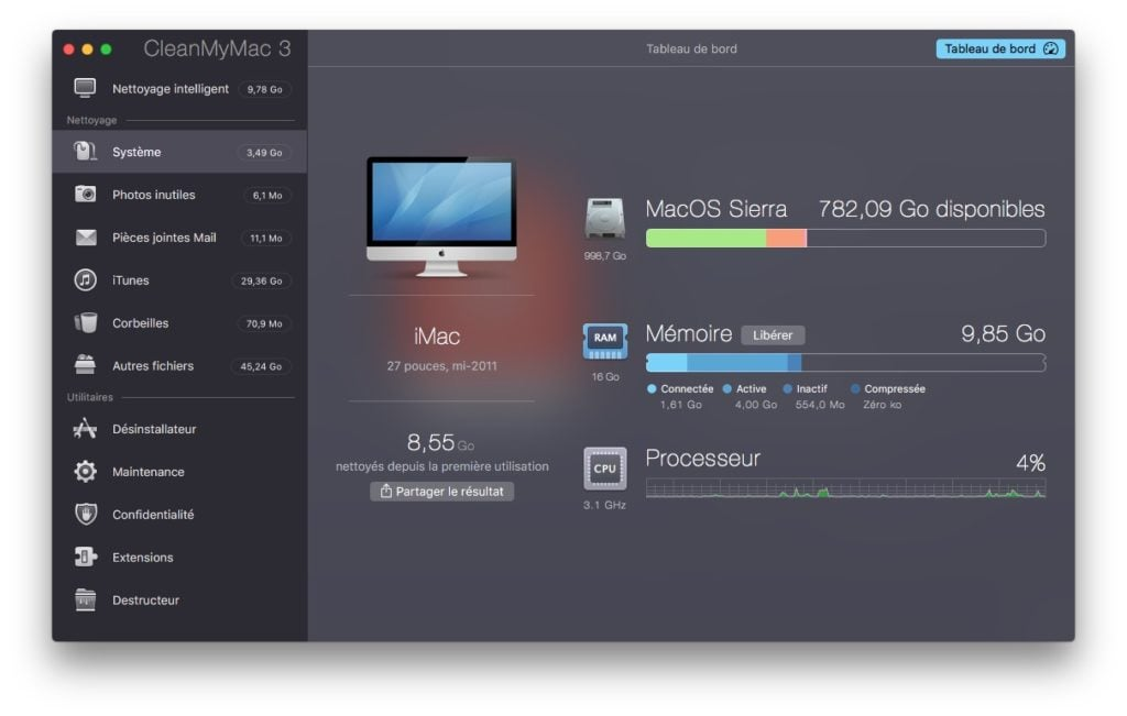 Optimiser macOS Sierra imac macbook