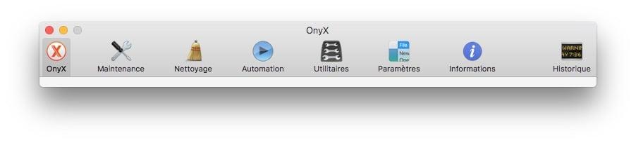 Onyx macOS Sierra fonctions
