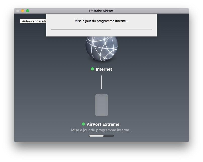 Apple airport mise a jour programme interne