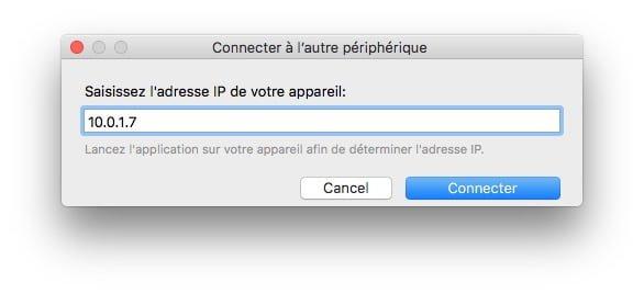 Utiliser un iPad en second ecran adresse IP