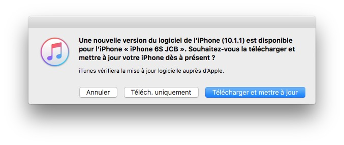 iOS 10.1.1 telecharger