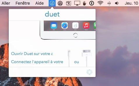 utiliser un iPad en second ecran avec duet display
