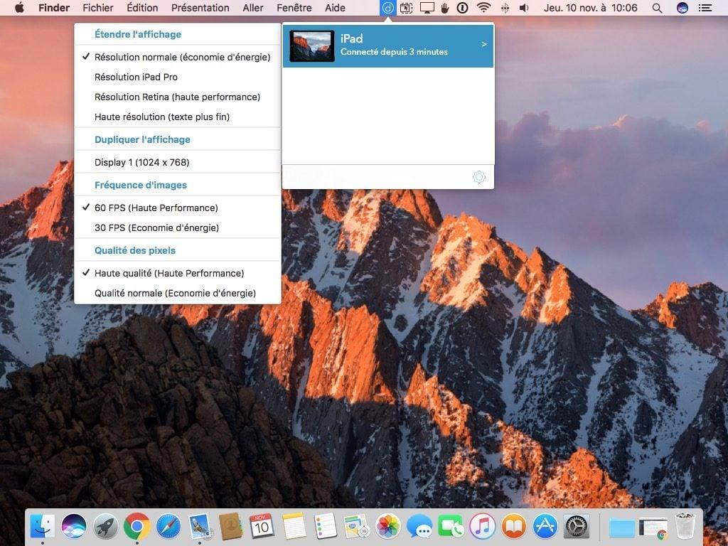 utiliser un iPad en second ecran mode etendu