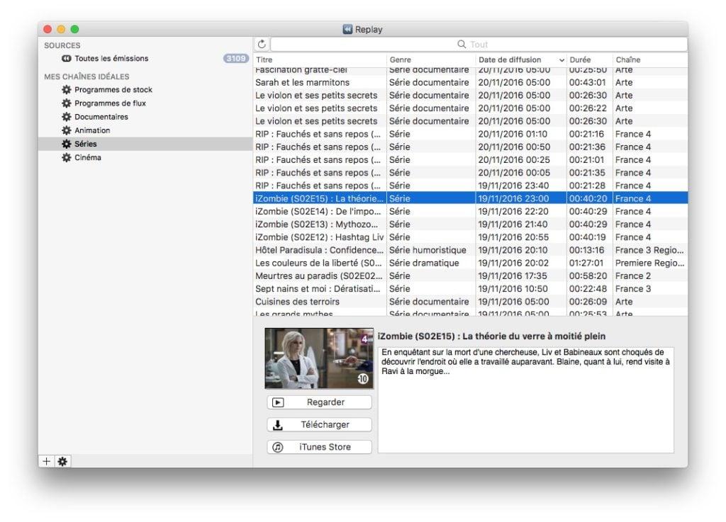voir la tele sur Mac replay tv rattrapage