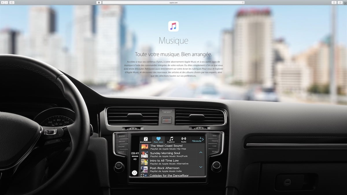 apple carplay fonctionnalit s voitures autoradios macplanete. Black Bedroom Furniture Sets. Home Design Ideas