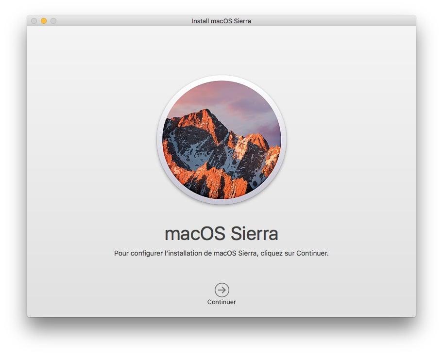 Installer macOS Sierra sur cle USB disque ssd