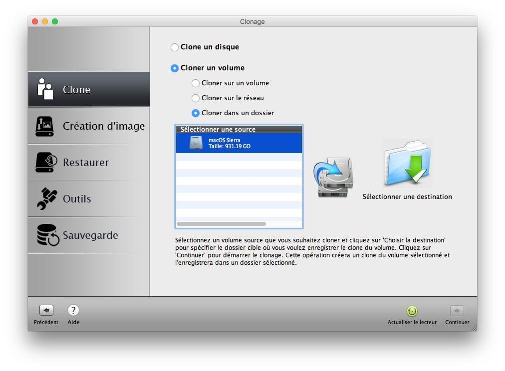 Cloner macOS Sierra vers autre disque
