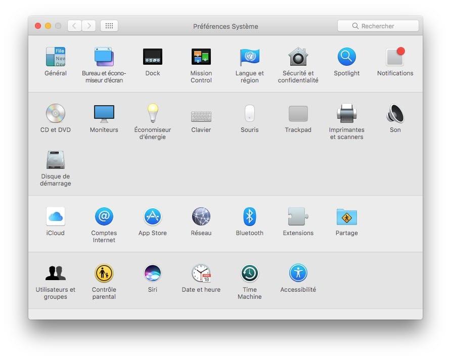 Configurer un proxy sur Mac preferences systeme