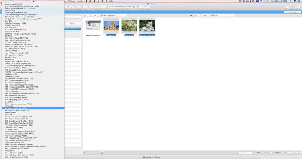 Convertir des images sur Mac graphicconverter