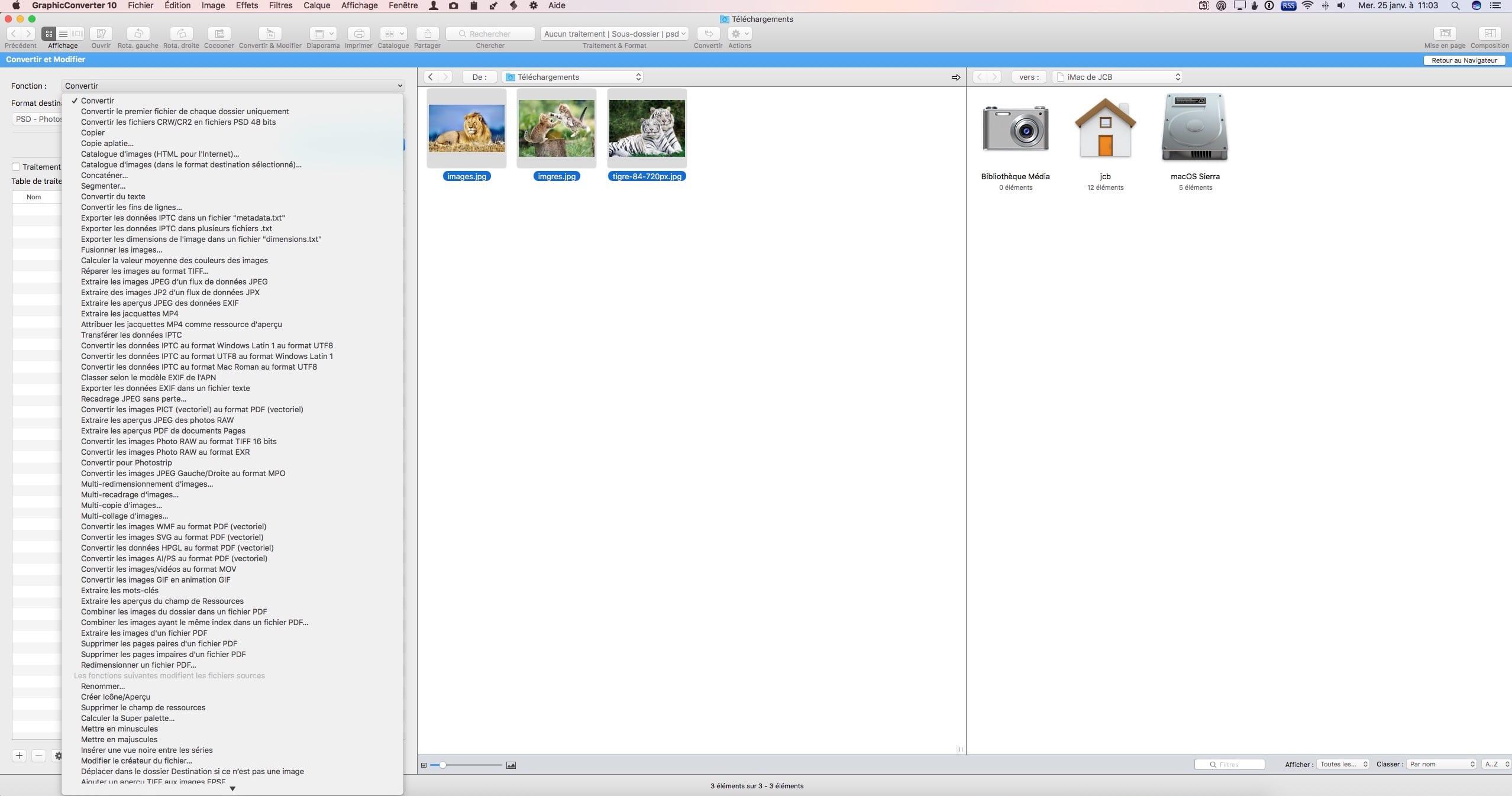 Convertir des images sur Mac OS Sierra (10 12) en JPG, GIF, PNG