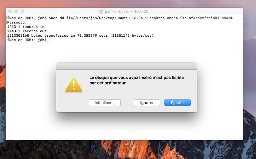 Dual boot macOS Sierra Linux