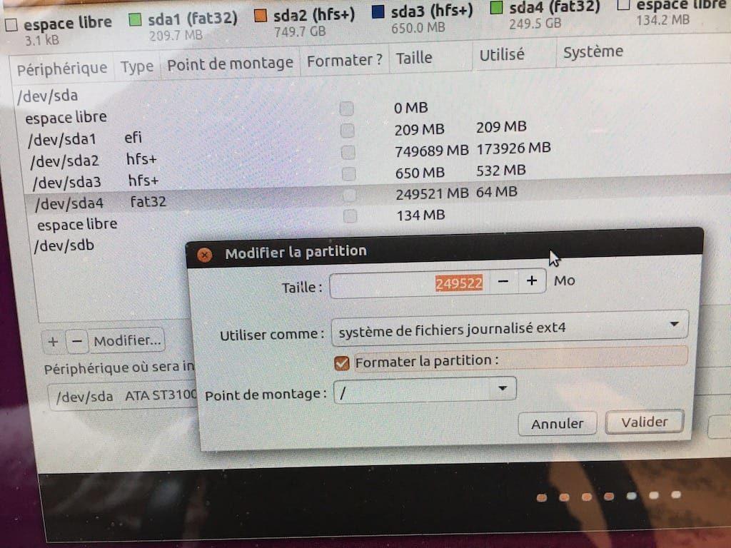 Dual boot macOS Sierra Linux ext4