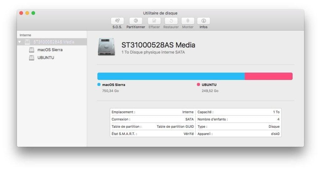 Dual boot macOS Sierra Linux ubuntu