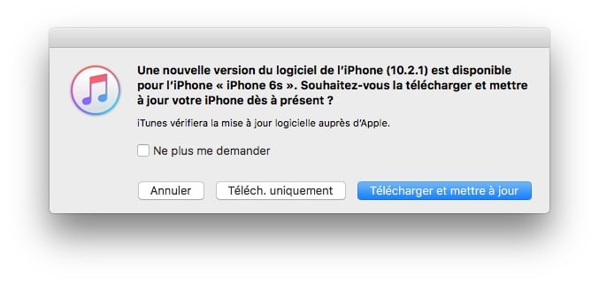 ios 10.2.1 maj telecharger