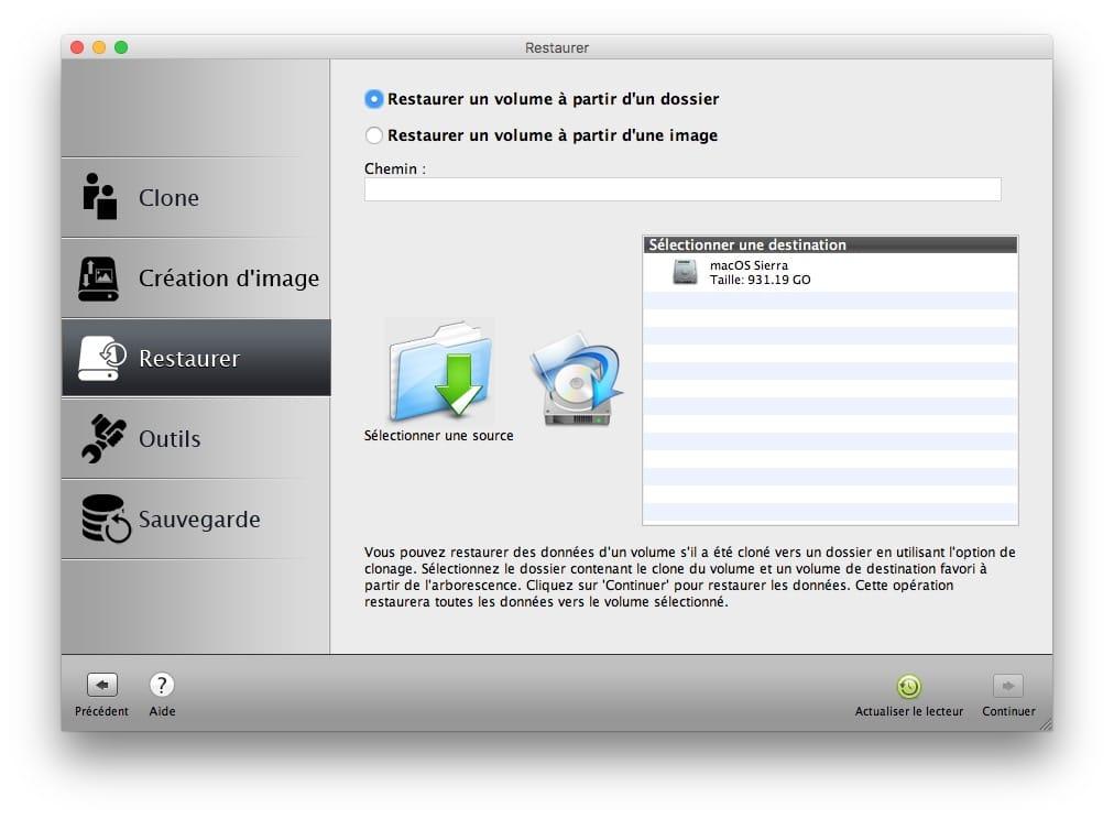 Cloner macOS Sierra restaurer clone disque mac os sierra