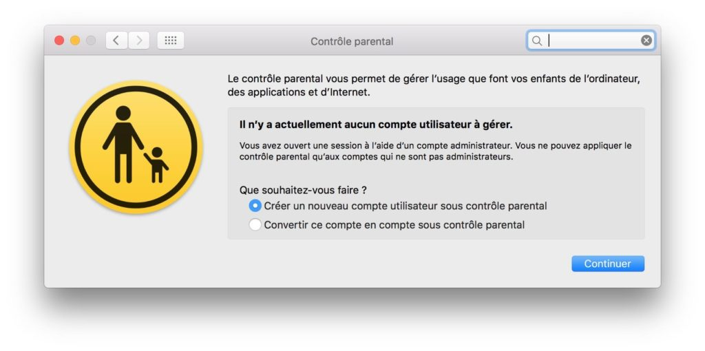 Controle parental Mac creer nouveau comptejpg