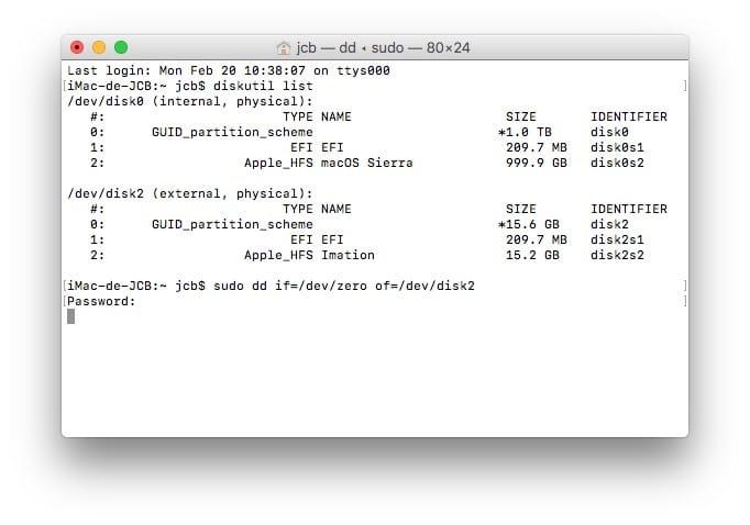 Formater son Mac en bas niveau zero out data mode
