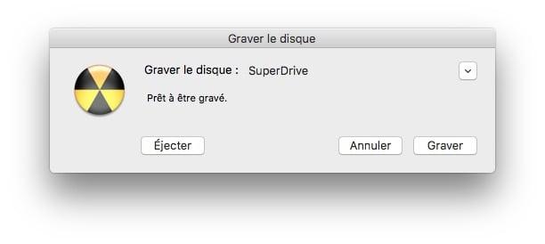 Graver un ISO sur Mac superdrive