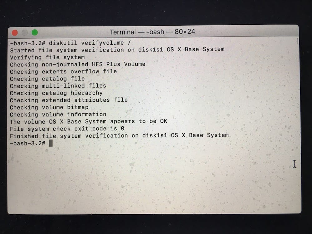 Verifier le disque de son Mac avec le terminal