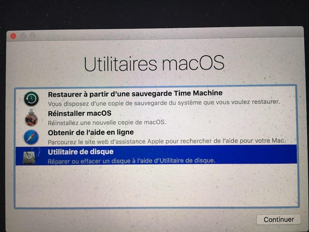 Verifier le disque de son Mac utilitaire de disqueVerifier le disque de son Mac utilitaire de disque