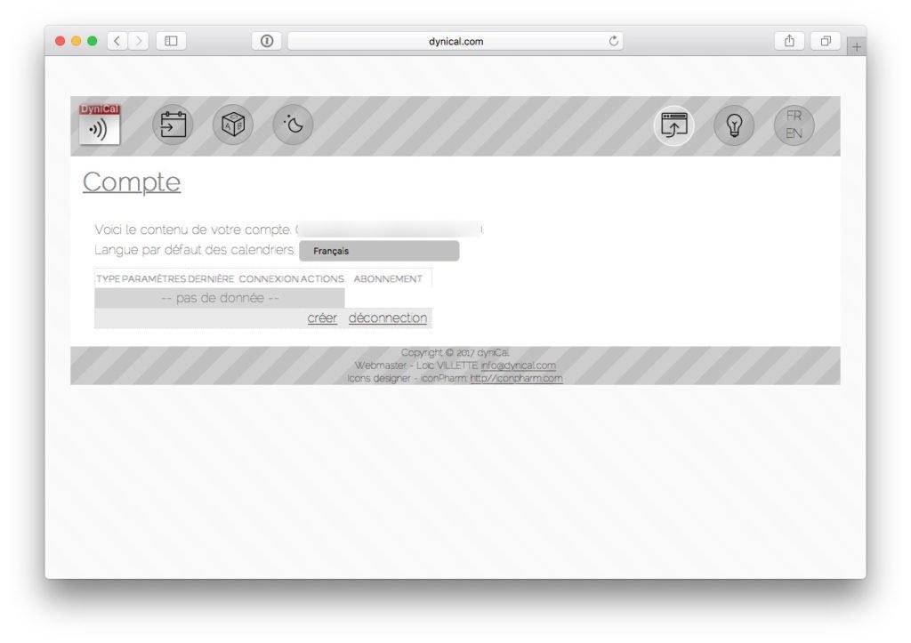 Ajouter les jours feries sur le calendrier Mac creation compte dynical