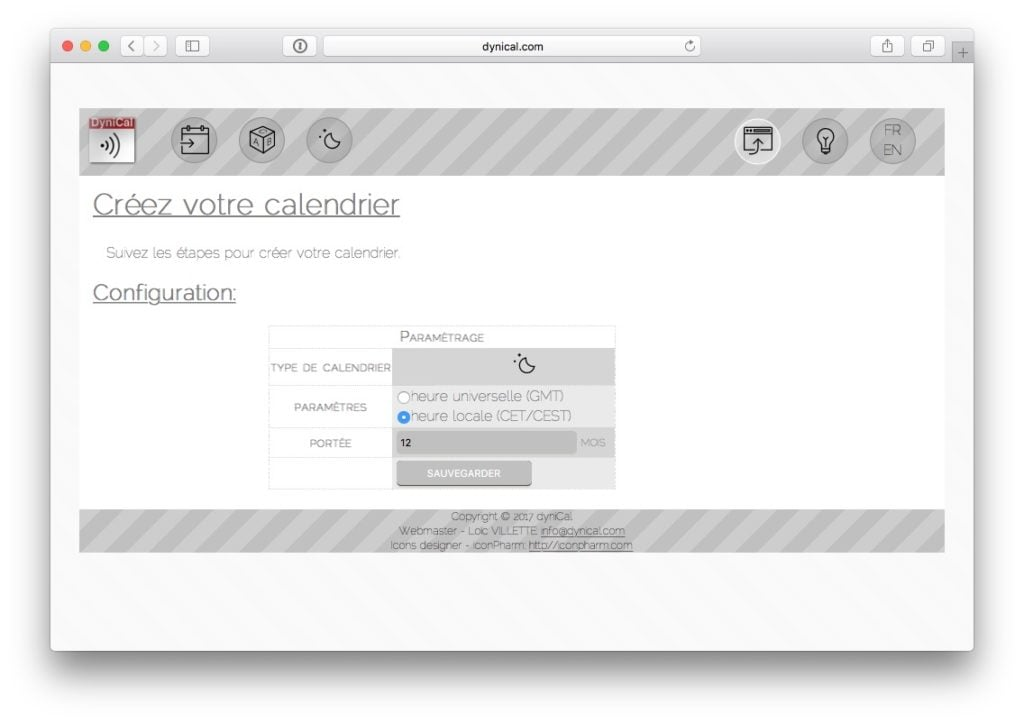 Ajouter les jours feries sur le calendrier Mac phase lunaire