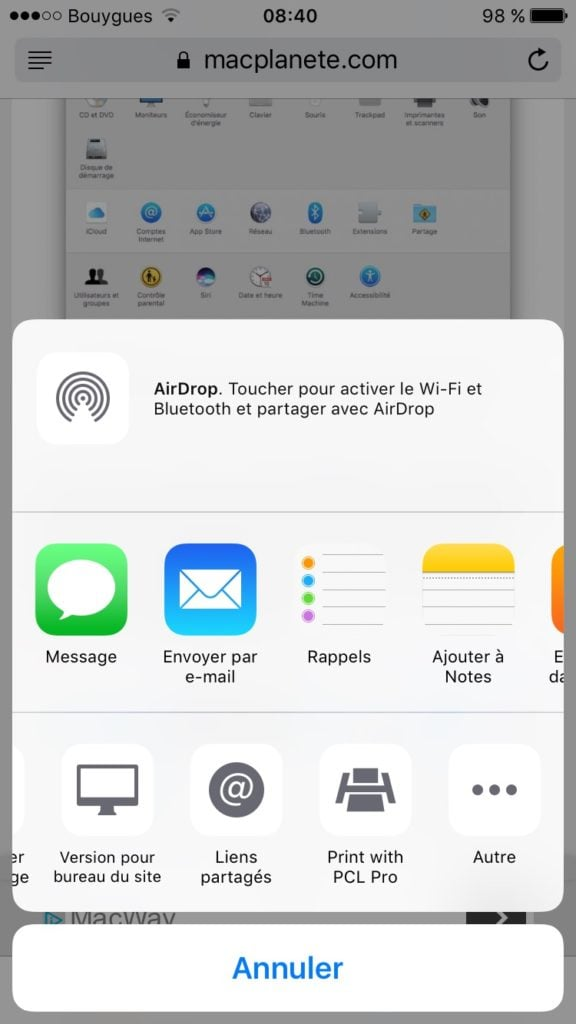 Imprimer avec un iPhone print with pcl pro