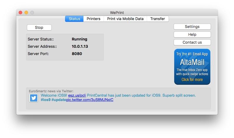 Imprimer avec un iPhone weprint mac configuration