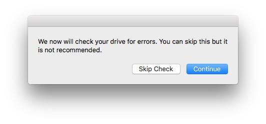 Reconstruire la partition Recovery Mac OS verifier disque