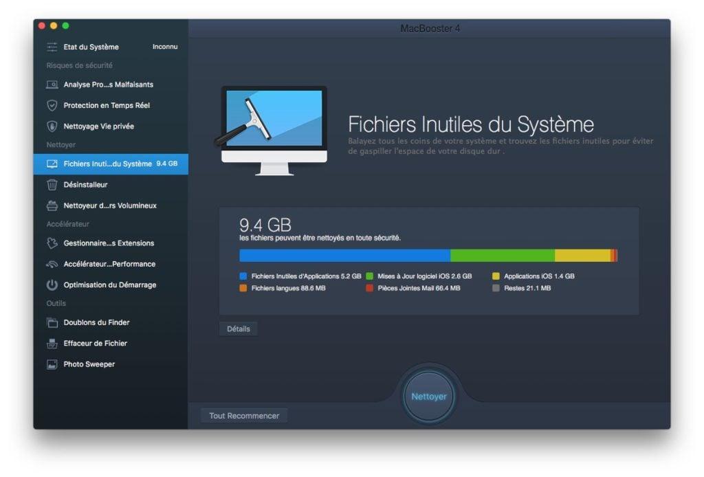 nettoyage fichiers systeme obsoletes sous mac os sierra