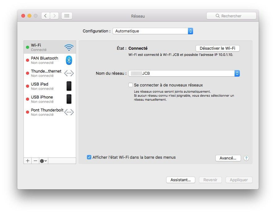 Client SSH Mac addresse ip