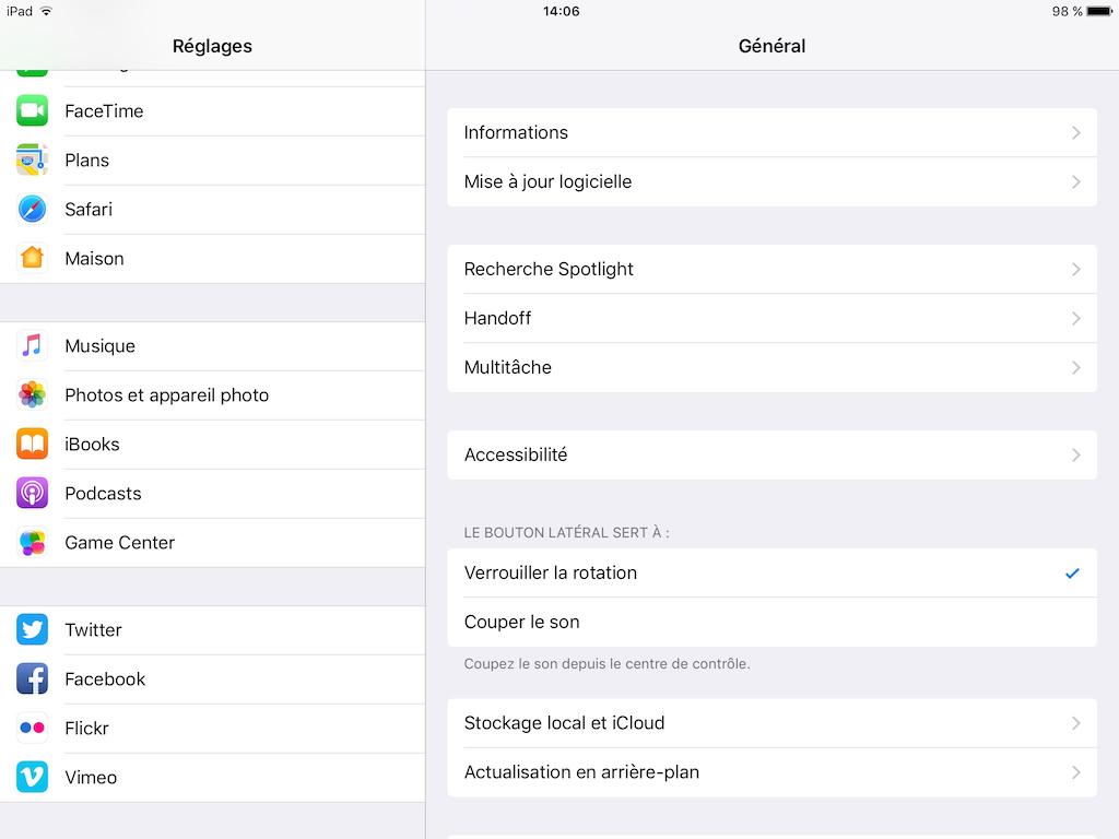 Retrouver un mot de passe sous iOS reglages ipad