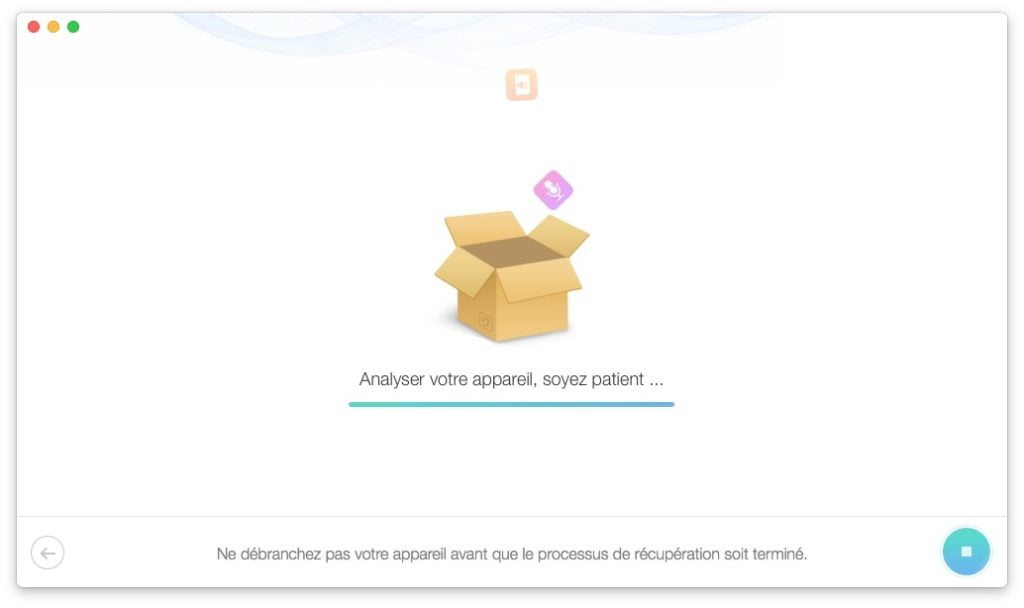 analyse donnees effacees iphone