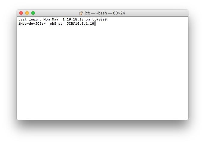 client ssh mac connexion avec terminal