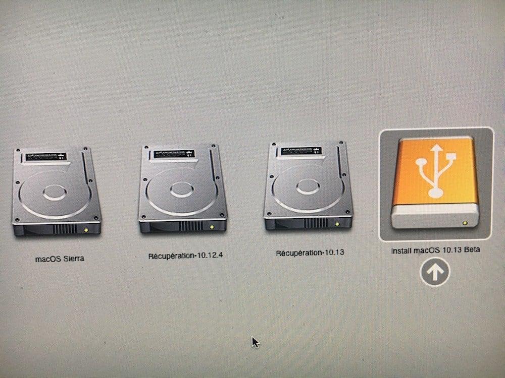 Installation propre macOS High Sierra gestionnaire de boot