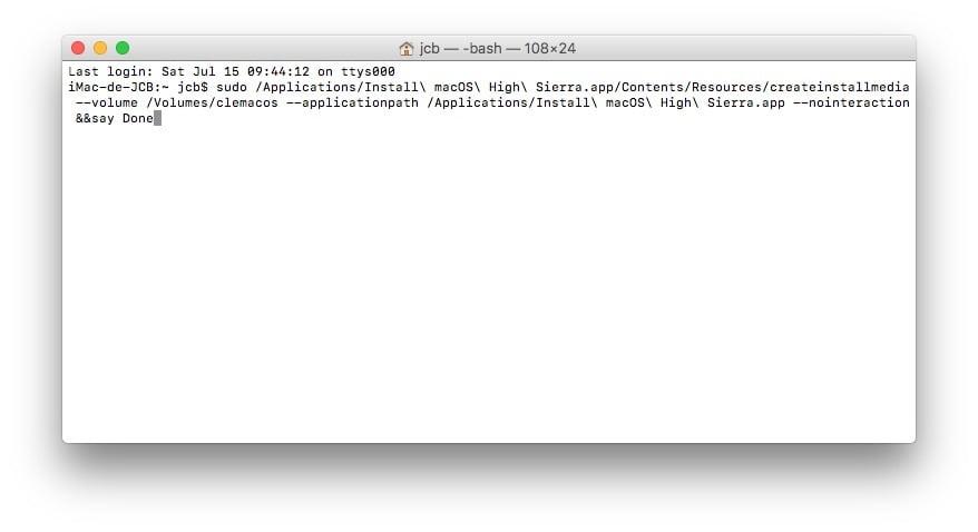 creation bootable mac os high sierra tutoriel complet
