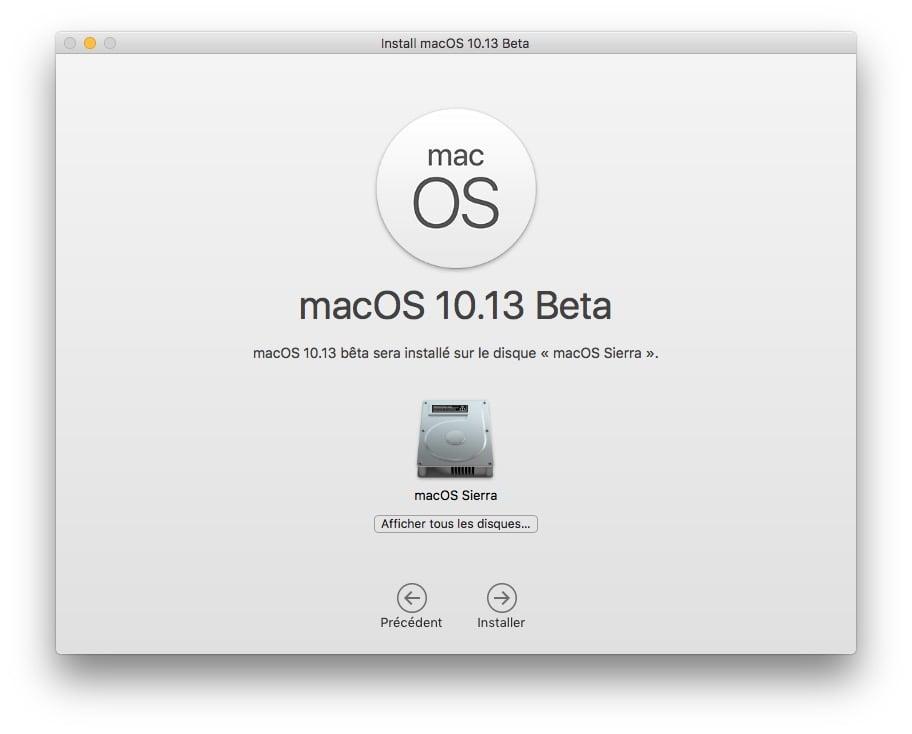 installer macos high sierra en dual boot afficher tous les disques