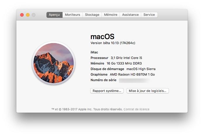 Installer macOS High Sierra en dual boot (partition, disque externe...) 1