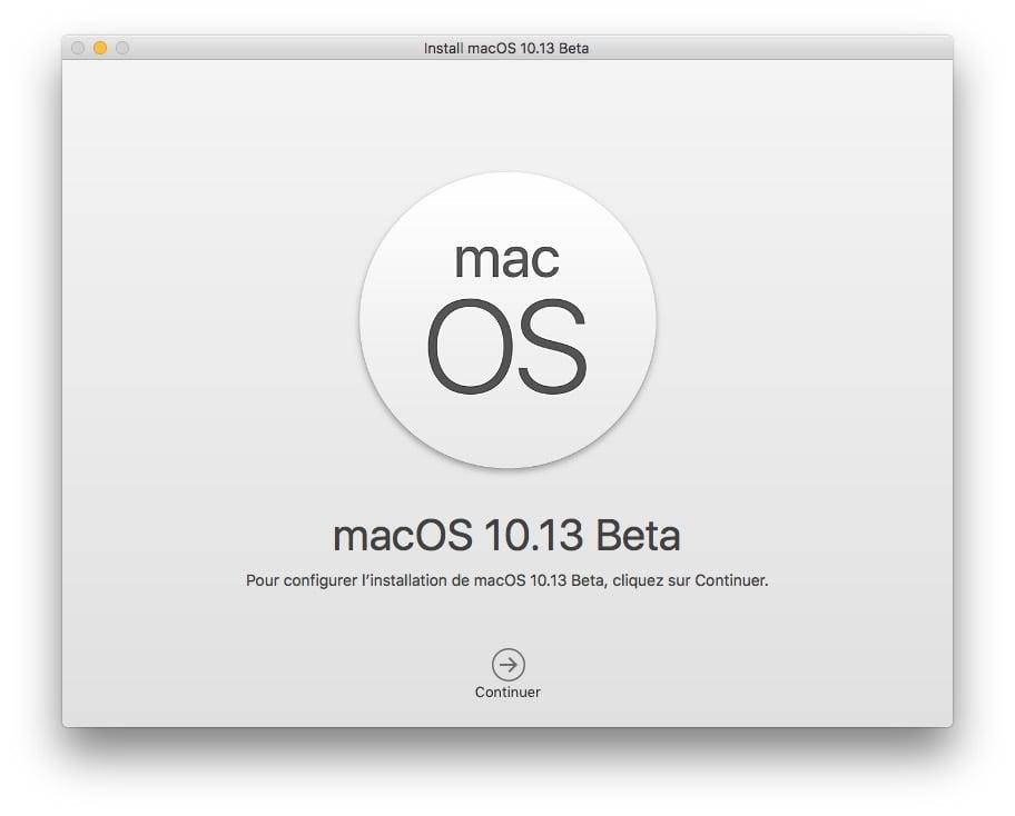 macos 10.13 installation