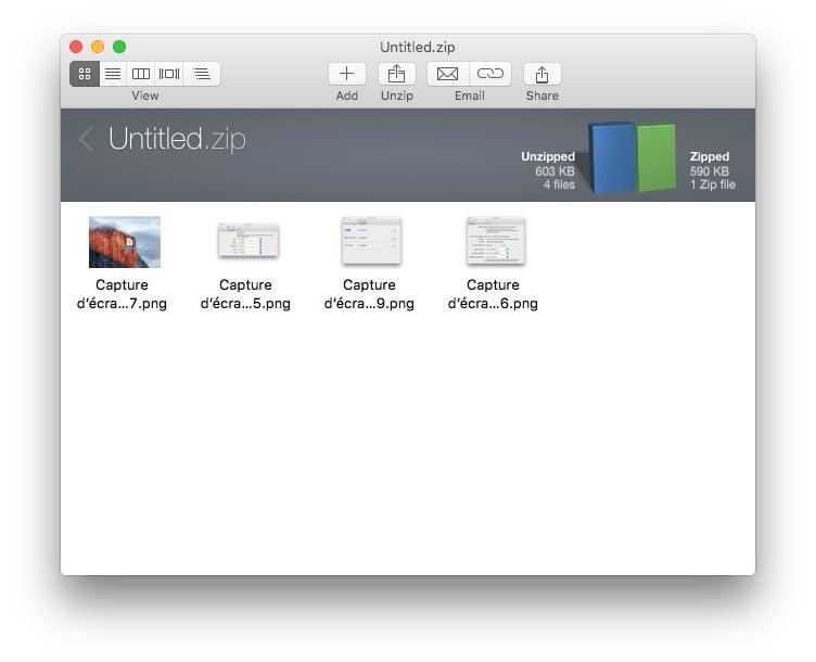 Installer une application sur Mac zip