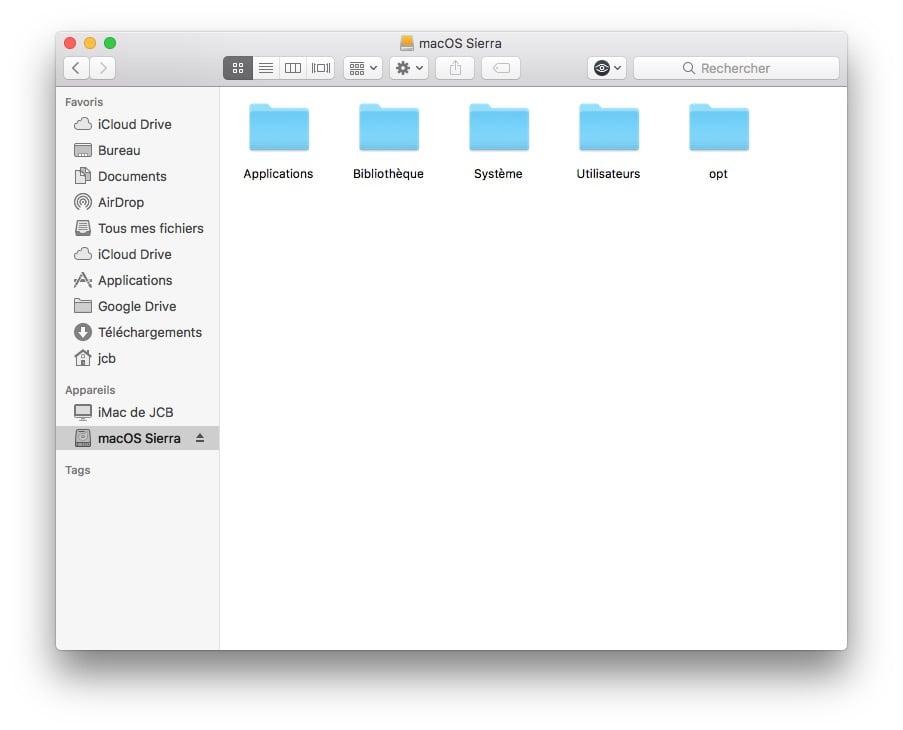 Utiliser le mode disque cible sur Mac copier coller fichiers