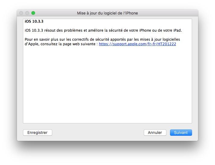 iOS 10.3.3 correctif
