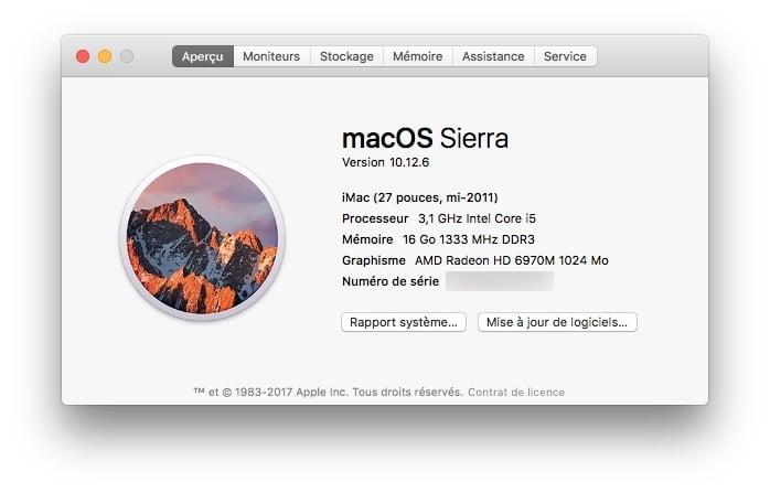 macOS Sierra 10.12.6 telechargement