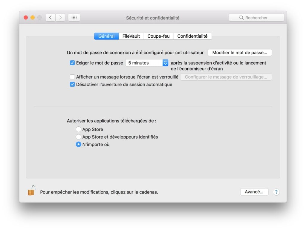 ouvrir les apps non identifiees macOS High Sierra n'importe ou