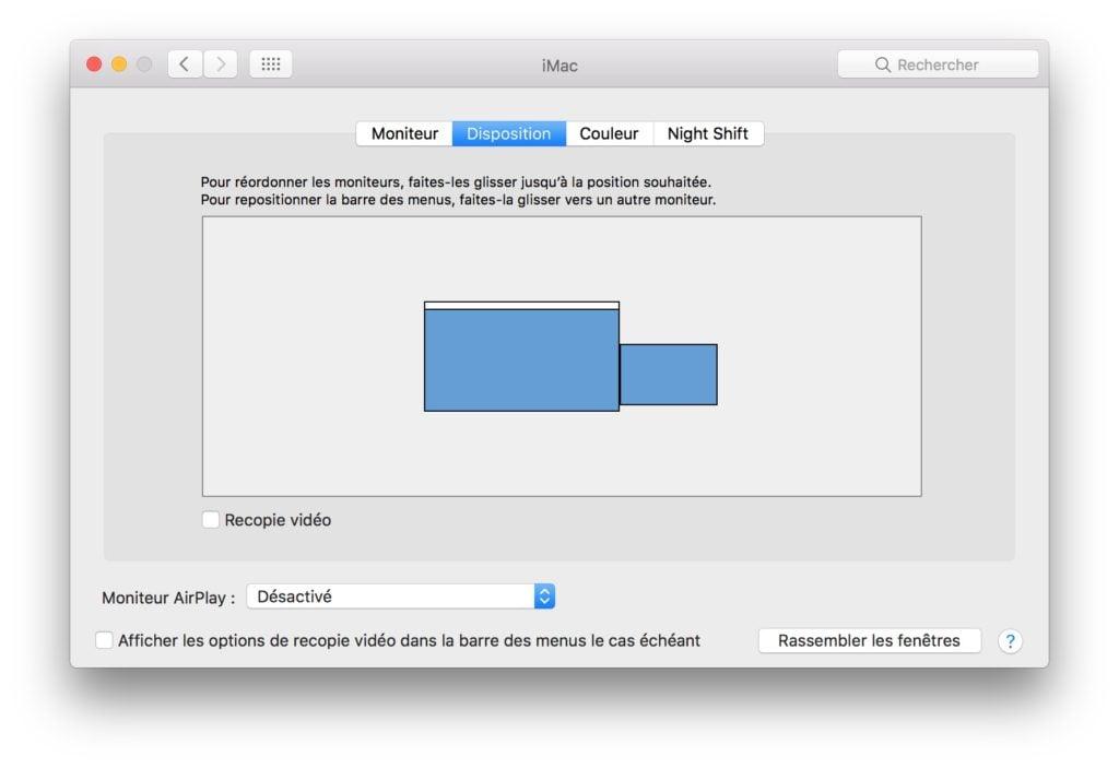 Utiliser un iMac en second ecran recopie video