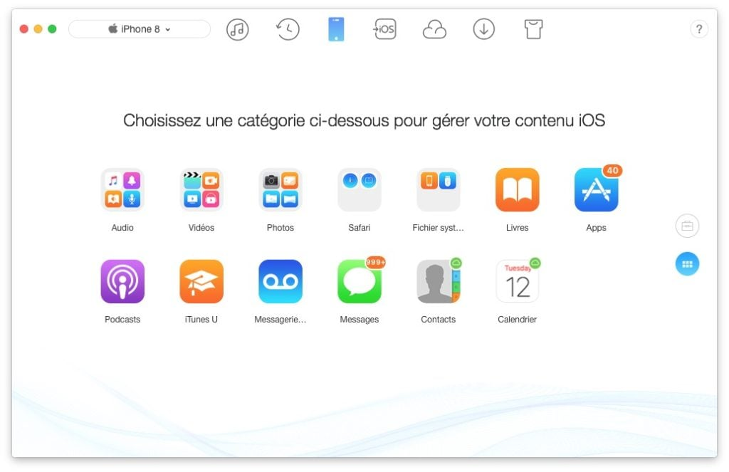 Installation propre iOS 11 sauvegarder films musiques documents