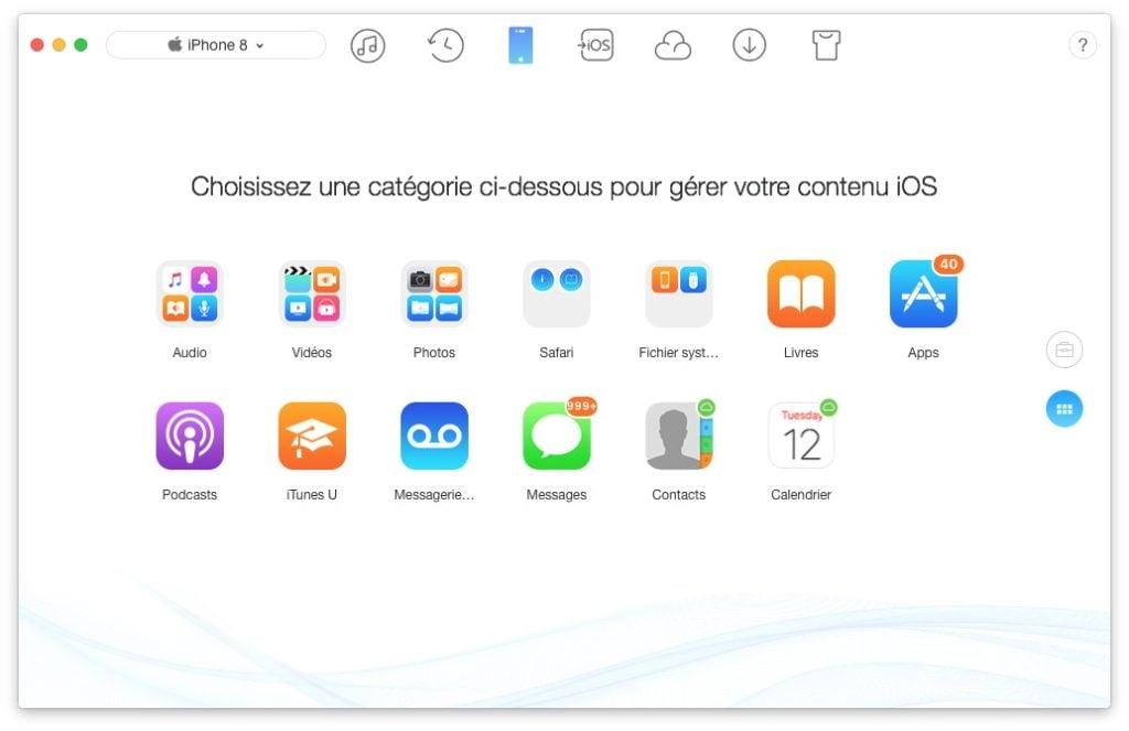 Installation propre iOS 11 sauvegarder films musiques documents