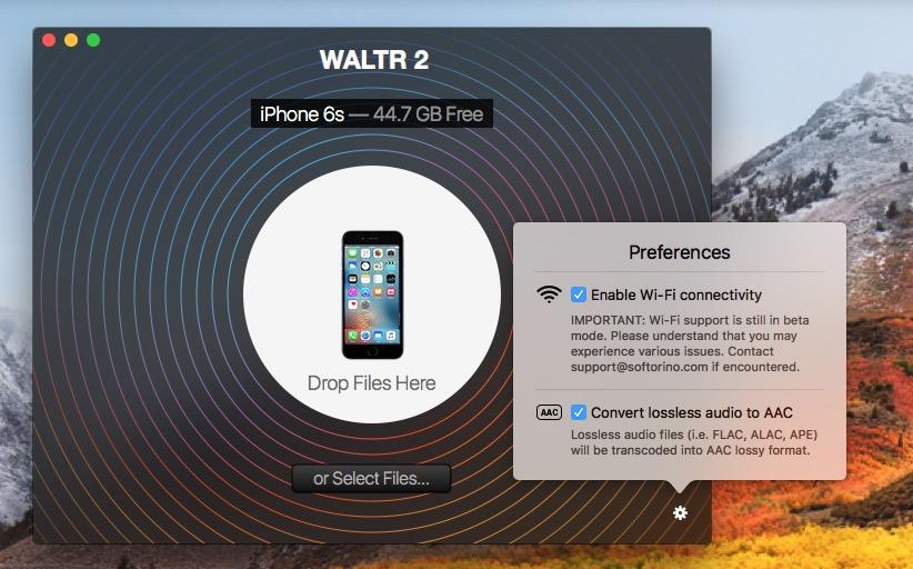 copier une video sur un iPhone en wifi