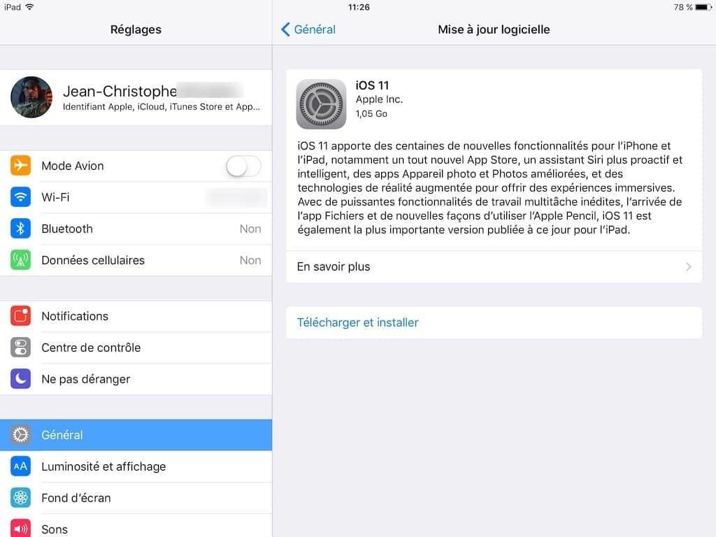 ios 11 telechargement ipad iphone ipod